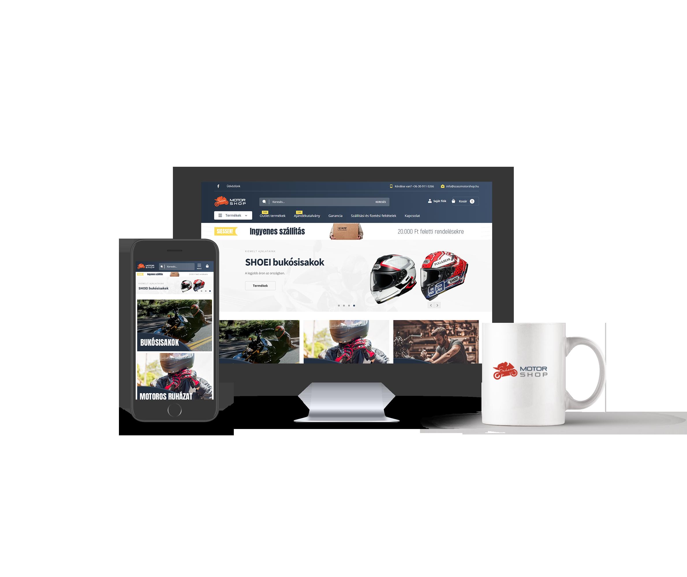Szászmotorshop Magento webáruház 2018