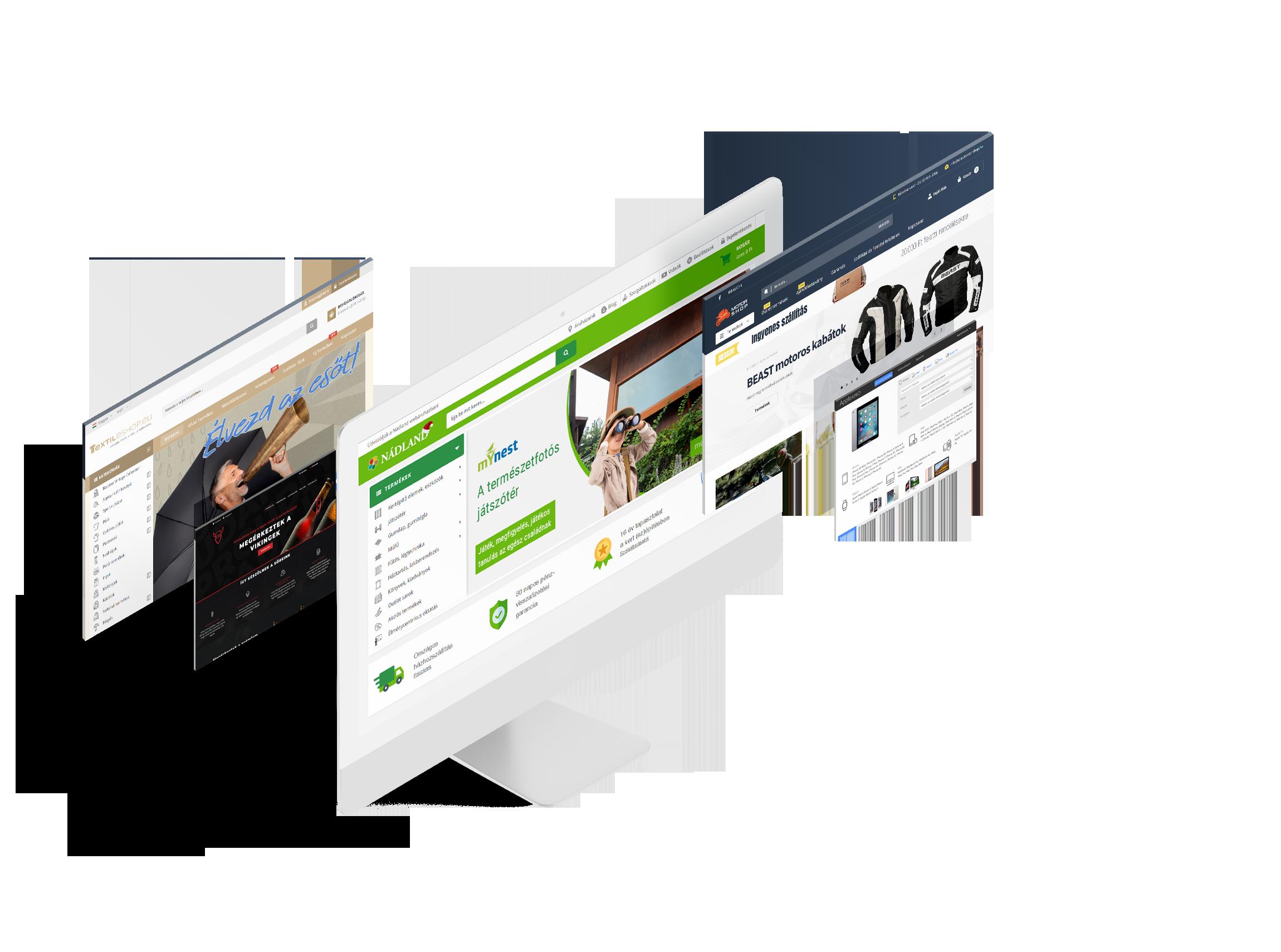 Magento webáruház készítés